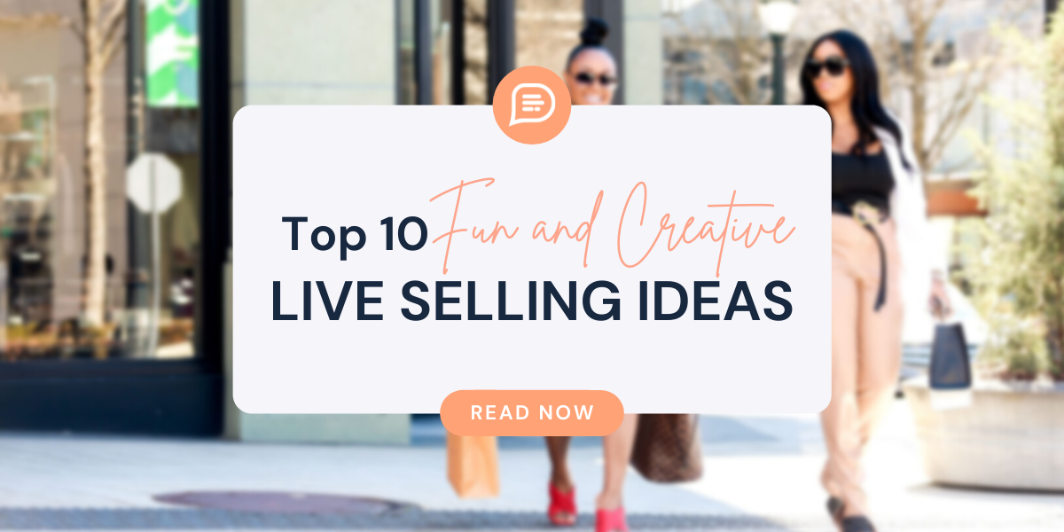top 10 live selling ideas, placard